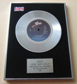 ABBA - HEAD OVER HEELS PLATINUM Single Presentation DISC